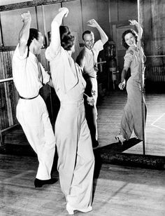 "Eleanor Powell & Fred Astaire practice for ""Broadway Melody of 1940."""