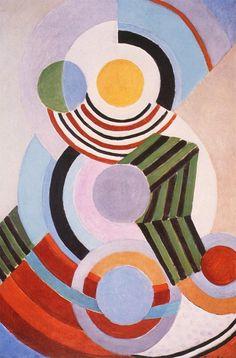 Sonia Delaunay Rhythm 1945 Grey Art Gallery New York © Pracusa 2014083 Sonia Delaunay, Robert Delaunay, Grey Art, Art Moderne, Geometric Shapes, Modern Art, Abstract Art, Art Gallery, Illustration