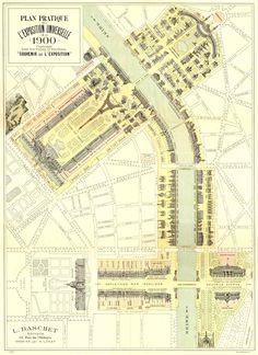 Plan pratique de l'exposition universelle Paris 1900