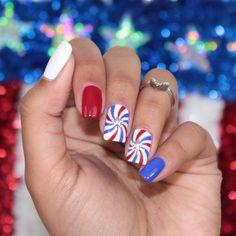 July 4th Nails Designs, Cute Summer Nail Designs, Cute Summer Nails, 4th Of July Nails, Cute Nails, Nail Art Designs, Beachy Nail Designs, Summer Nail Art, Funky Nails