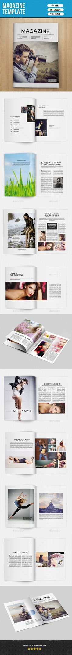Minimal #Magazine Template-V01 - Magazines Print #Templates Download here: https://graphicriver.net/item/minimal-magazine-templatev01/9291042?ref=alena994