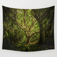 The old wizard Wall Tapestry