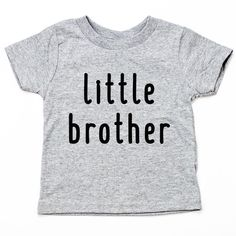 Lil Brother Shirt Little Brother Funny Toddler Kids Shirt Funny Toddler, Toddler Humor, Toddler Boys, Shirts For Girls, Kids Shirts, Toddler Birthday Gifts, Size Chart, Brother, Just For You
