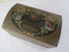 Vintage Whitman's Prestige Chocolate Advertising Tin,Trunk Treasure Chest Dome Top Camel Top Jewelry Keepsake Storage by HobbitHouse on Etsy