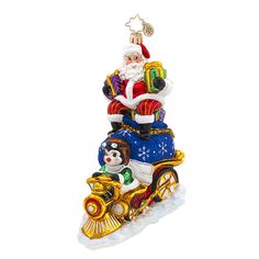 "Christopher Radko Ornament - ""Riding High Nick"""