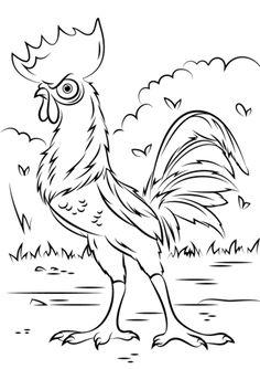Dibujo para colorear de Vaiana (nº 6)