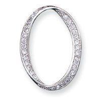 Sterling Silver CZ Fancy Pendant - JewelryWeb JewelryWeb. $35.70