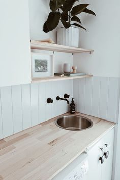 Bunnings Laundry, Bunnings Bathroom, Modern Laundry Rooms, Laundry In Bathroom, Small Laundry Sink, Laundry Cupboard, Laundry Room Storage, Laundry Room Inspiration, Laundry Room Remodel