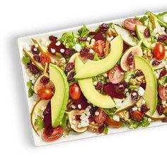 Avocado Salad Center I Avocados From Mexico Avocado Tomato Salad, Avocado Salad Recipes, Easy Salad Recipes, Salads Up, Easy Salads, Best Egg Salad Recipe, Homemade Honey Mustard, Wild Rice Salad, Party Food Platters