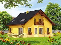 Wizualizacja AC Radosław CE Home Fashion, House Plans, Cabin, House Design, Mansions, House Styles, Villas, Attic, Projects