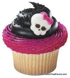 Monster High Girls Cupcake Decoration Topper Sugar Birthday Cake Halloween Layon | eBay