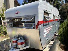 1954 Aljoa Sportsman 14' - Folsom, CA Camper Trailer For Sale, Vintage Campers Trailers, Trailers For Sale, Camper Trailers, Recreational Vehicles, Vintage Caravans, Camper, Campers, Campers