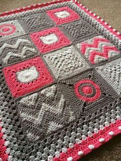 Crocheted blocks diff patterns