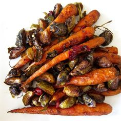 Healthy Eating Recipes, Cooking Recipes, Roasted Baby Carrots, Whole 30 Recipes, Vegetable Recipes, Side Dishes, Clean Eating, Tasty, Brussels Sprouts