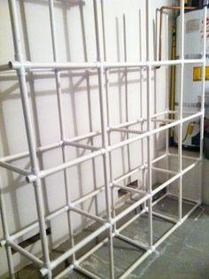 DIY Saturday - PVC Tote Storage Organizer