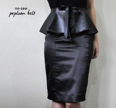DIY Clothes DIY Refashion DIY Clothes Refashion: DIY Make a no-sew peplum belt quick & easy