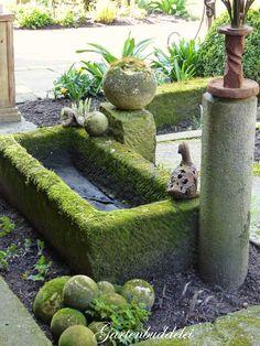 Moss Garden, Water Garden, Garden Pots, Small Gardens, Outdoor Gardens, Ideas Terraza, Bamboo Trellis, Water Features In The Garden, Garden Projects