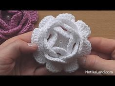 Crochet Flower Rose VERY EASY Tutorial #2 - YouTube