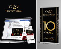 PAZLE Creative Σχεδίαση και ανάπτυξη καμπάνιας (facebook, instagram, έντυπο υλικό) για τα 10 χρόνια λειτουργίας του καταστήματος οπτικών Perfect Vision Optics.  Μια συνεργασία της PAZLE Creative με την To Infinity Digital Marketing