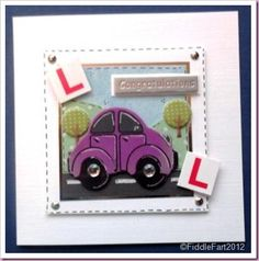 You Passed . Test Card, Driving Test, Cardmaking, Projects To Try, Diy Crafts, Card Designs, My Favorite Things, Toys, Handmade Cards