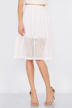 Open Grid Skirt