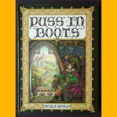 Pop up book PUSS IN BOOTS (Le chat botté) Livre à systèmes Nicola Bayley 1976