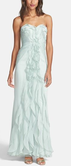 Ruffled dress by Adrianna Papell