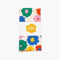 Flower Kitchen Towel – Slowdown Studio Australian Artists, Kitchen Towels, Cotton Linen, Create, Flowers, Prints, Color, York, Design