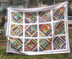 Kaleidoscope Quilt//smaller scale no borders