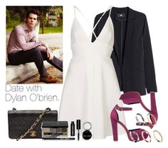 """""""Date with Dylan O'brien."""" by welove1 ❤ liked on Polyvore featuring H&M, Oh My Love, SPURR, ASOS, Chanel and Bobbi Brown Cosmetics"""