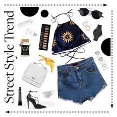 A fashion look from August 2015 featuring blue shirt, denim shorts and zara shoes. Browse and shop related looks. Larsson & Jennings, Alchemist, Proenza Schouler, Philosophy, Forever 21, Zara, Shoe Bag, Clothes For Women, Polyvore Fashion