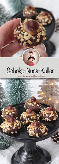 Wer von Euch Schokolade, Karamell und Haselnüsse liebt, ist mit diesen Schoko-Nuss-Kuller an Weihnachten auf der sicheren Seite.