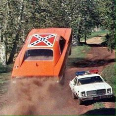 "The General Lee on ""The Dukes"" © 1978 Warner Bros. Television, all rights reserved"