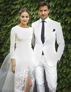 Beautiful bride: The 28-year-old who tied the knot to long-time beau Johannes Huebl in July, opted for a stunning quarter sleeve cashmere sweater with ostrich feathers teamed with a white tulle skirt and matching shorts for her big day