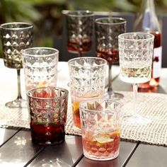 Quilted Acrylic Glassware (Set of Acrylic Glassware, Cocktails, Drinks, Beverages, Strawberry Mojito, Coaster Furniture, Fall Table, Outdoor Entertaining, Drinkware