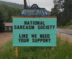 For some of the most hilarious of puns, you will want to visit the Indian Hills Community Center in Indian Hills, Colorado. Funny Sign Fails, Funny Puns, Funny Stuff, Funny Humour, Funny Quotes, 9gag Funny, Funny Road Signs, Hilarious Sayings, Sarcastic Memes