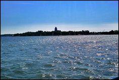 Suomenlinna Sea Fortress on the horizon, Helsinki, Finland Travel News, Helsinki, World Heritage Sites, Finland, Sea, Mountains, City, The Ocean, Cities