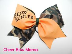 Bow Hunter Cheer Bow by Cheer Bow Mama