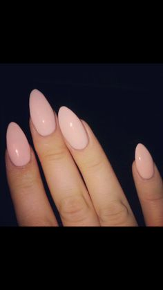 Pink blush stiletto nails