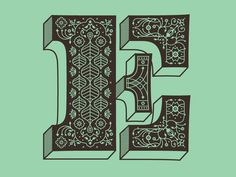 e is for elaborate letter formletter efancy