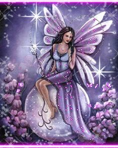 animated glitter fairies | april fairy Picture #121446893 | Blingee.com