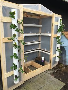 Greenhouse with pvc pipe and gutters