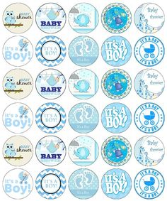 30 x Baby Shower Boy Edible Cupcake Toppers Wafer Paper Fairy Cake Topper Blue Baby Shower For Men, Distintivos Baby Shower, Dibujos Baby Shower, Imprimibles Baby Shower, Recuerdos Baby Shower Niña, Baby Shower Invitaciones, Edible Cupcake Toppers, Baby Shower Cupcake Toppers, Moldes Para Baby Shower