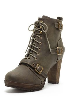 Brody Lace-Up Strap Ankle Boot