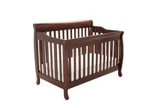 Athena Alice 3 in 1 Crib with Toddler Rail, Espresso - The price dropped 32%