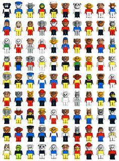 All fabuland fig. My Childhood Memories, Childhood Toys, Lego Vintage, Lego App, Working Robots, Classic Lego, Lego Construction, Good Old Times, Nostalgia
