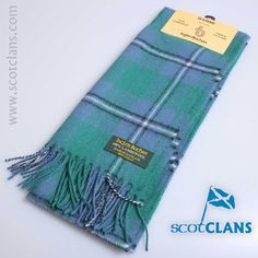 Pure Lambswool tartan scarf in irvine ancient tartan - Available from ScotClans
