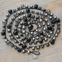 Sweet Romance Pewter Sunset Beach Boho Chic Beads Necklace