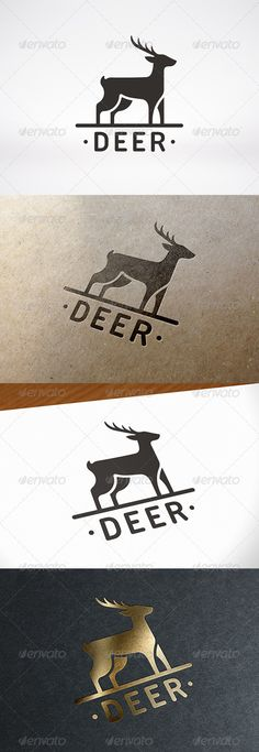Deer Logo Template — Vector EPS #horns #retro • Available here → https://graphicriver.net/item/deer-logo-template/7921491?ref=pxcr