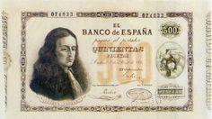 Billetes antiguos españoles- 1880- 500 pesetas, anverso